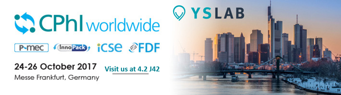 YSLAB sera présent au CPHI les 24, 25 et 26 octobre qui se tiendra à Francfort, en Allemagne. Venez nous retrouver au stand 4.2 J42