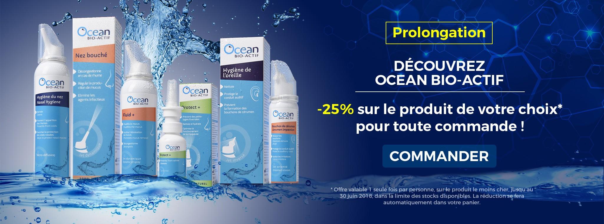 Découvrez OCEAN BIO-ACTIF avec -25% sur le produit de votre choix
